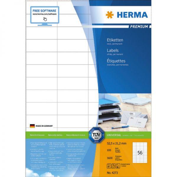HERMA Vielzweck-Etiketten Kleinpackung 12 x 19 mm weiß