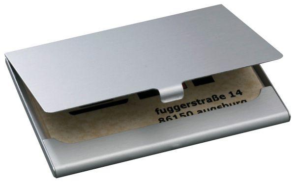 Sigel Visitenkartenetui Zv135 Aluminium Matt