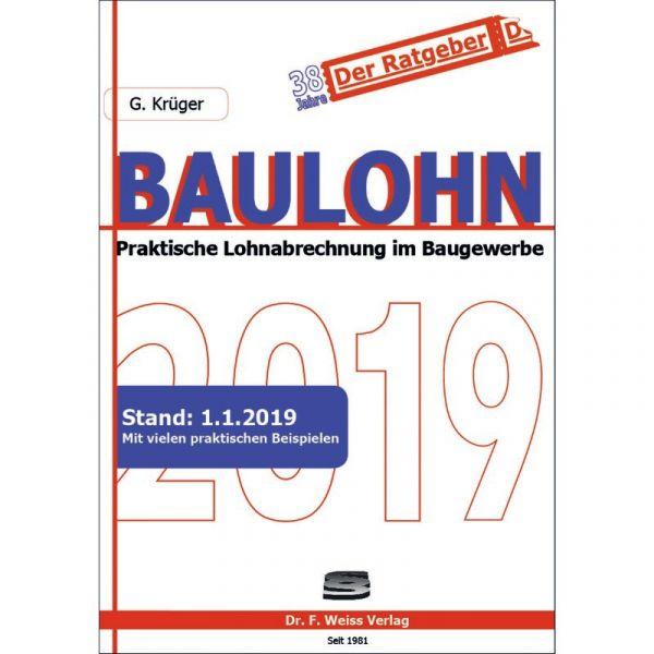 Baulohn 2019 Krüger 1 Auflage 2019