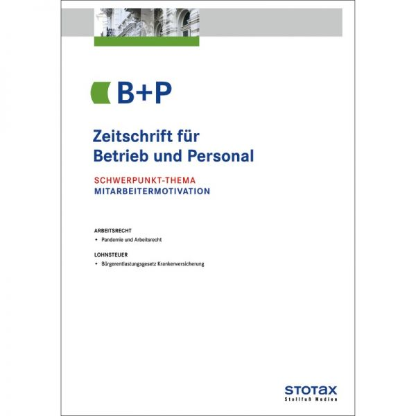 Bp Zeitschrift Für Betrieb Und Personal Abonnement Kaufen