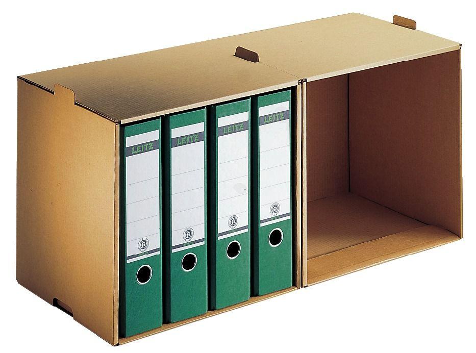 5 x Leitz Premium Archiv-Sammler 6083 DIN A4 naturbraun