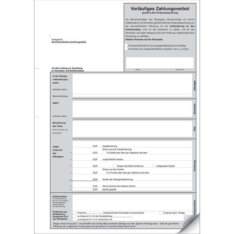 SoldanPlus Vorläufiges Zahlungsverbot, Kleinpackung mit 25 Stück