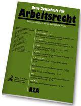 Nza Neue Zeitschrift Arbeitsrecht Probeabonnement Kaufen