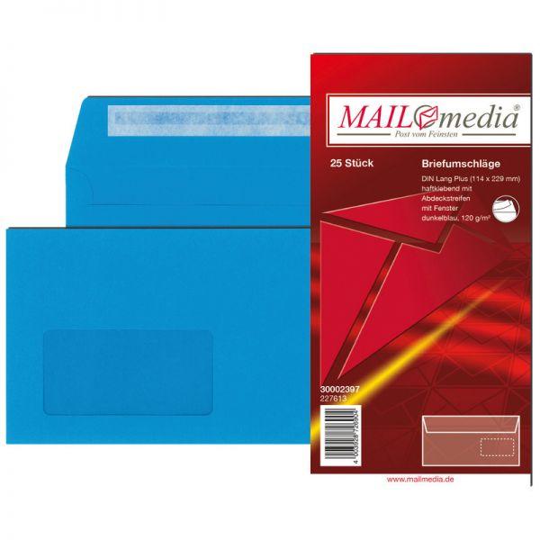 Briefumschlag Din C65 Haftklebend 120 Gm² Mit Fenster 45 X 90 Mm Pack 25 Stück
