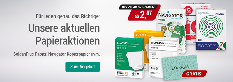 678a867de02d63 Papieraktion  Bis zu 40 % sparen oder Douglas Gutschein gratis