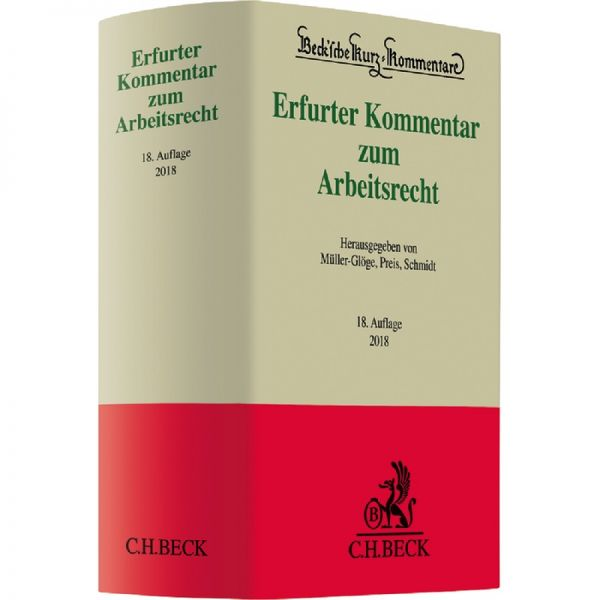 Erfurter Kommentar Zum Arbeitsrecht Dieterich Preis Schmidt 18