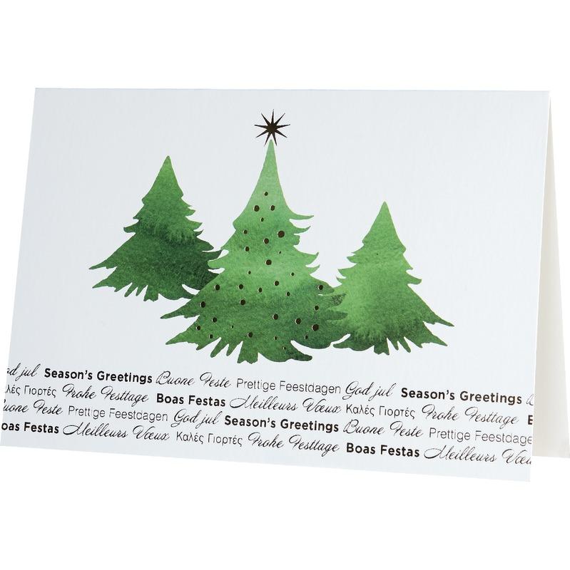 unicef weihnachtskarte tannenwald g nstig kaufen. Black Bedroom Furniture Sets. Home Design Ideas