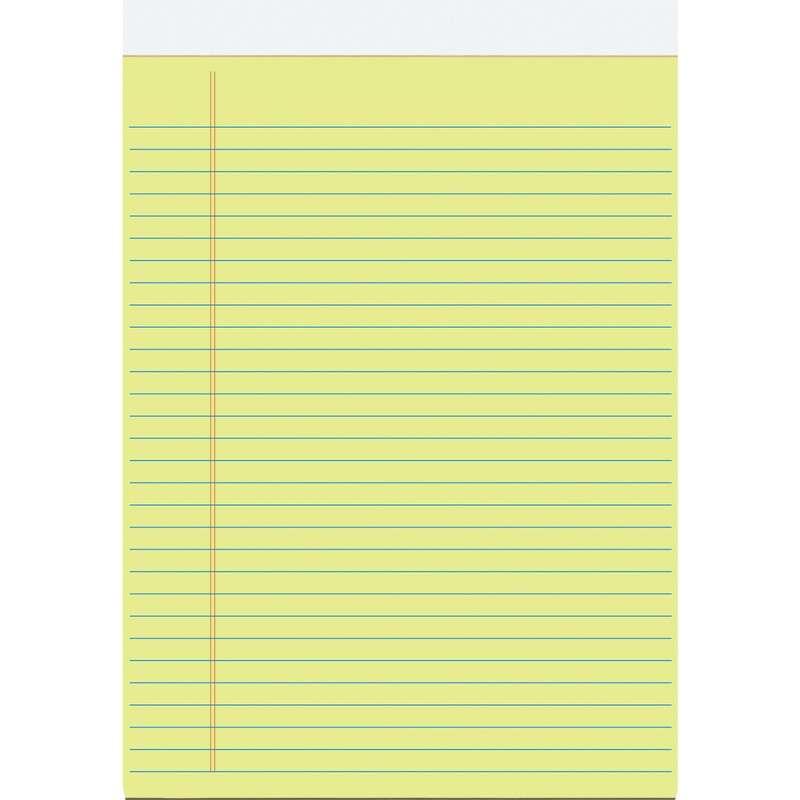 10 x Notizblock Schreibblock DIN A5 legalpad kariert gelbes Papier