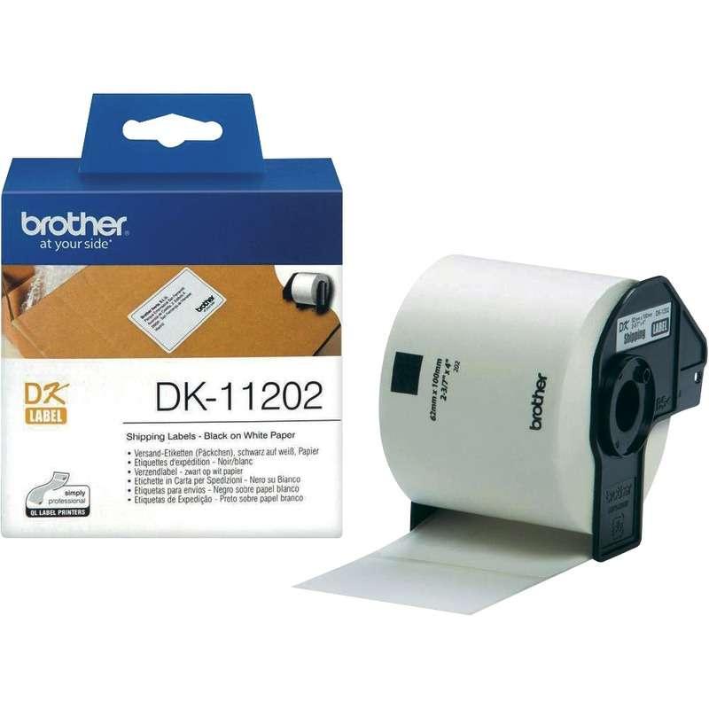 2x Label kompat zu Brother DK11202 62 x 100 mm 300 Label