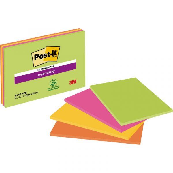 Ideen F303274r Weihnachtskarten.Post It Super Sticky Meeting Notes 6845 Ssp Neonfarben 203 X 152 Mm 4 X 45 Blatt